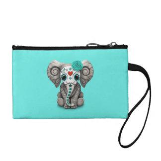 Blauer Tag des toten Elefanten Münzbörse