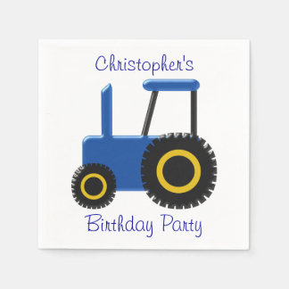 Blauer Traktor-Geburtstag Servietten