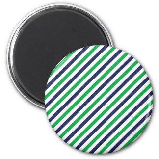 Blauer u. grüner Streifen-Magnet Runder Magnet 5,7 Cm