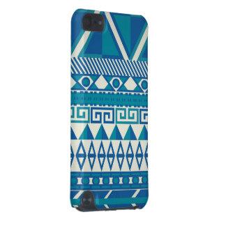Blauer u. weißer aztekischer Kasten iPod Touch 5G Hülle