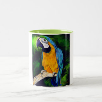 Blauer und gelber Macaw-Papagei Tee Haferl