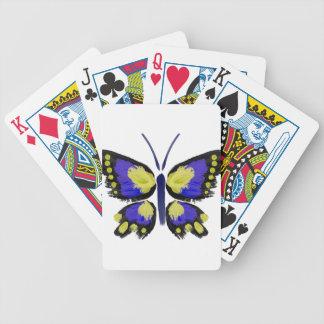 Blauer und gelber Schmetterling Bicycle Spielkarten