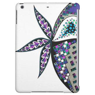 Blauer und grüner abstrakter Entwurf auf iPad Air