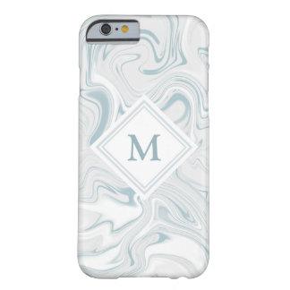 Blauer und weißer Marmorblick mit Barely There iPhone 6 Hülle