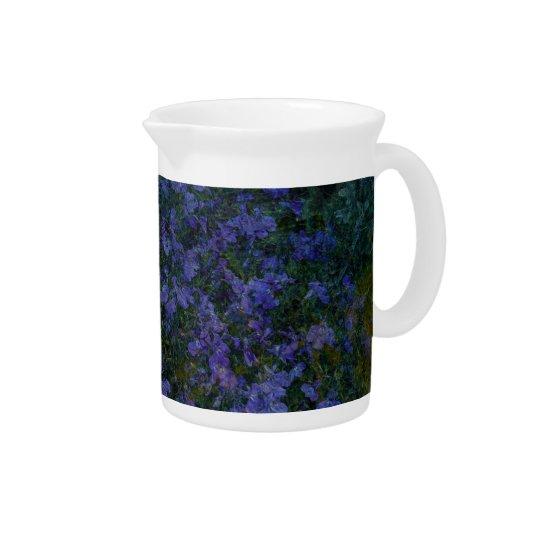 Blauer violetter Garten Krug