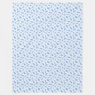 Blauer Watercolor beschmutzt große Fleece-Decke Fleecedecke