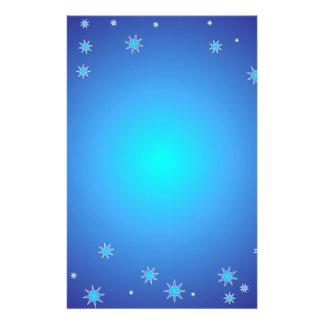 Blauer Weihnachtshintergrund Briefpapier