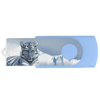 Blauer weißer Tiger USB Stick