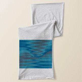 blauer Wellenbeschaffenheitsentwurf Schal