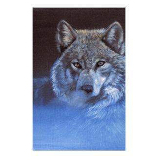 Blauer Wolf Briefpapier
