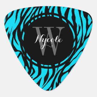 Blauer Zebra-personalisiertes Plektrum