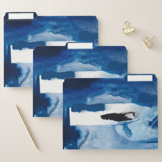 Blaues Amore II Papiermappe