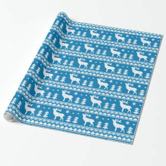 Blaues angemessenes geschenkpapier