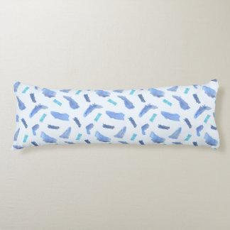 Blaues Aquarell-Stellen-Baumwollkörper-Kissen Seitenschläferkissen