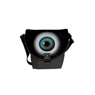 Blaues Augapfel-Iris-Augen-kleine Kurier Taschen