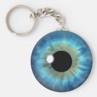 Blaues Augen-Iris-Augapfel-coole kundenspezifische Schlüsselanhänger
