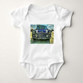 Blaues Austin Mini Babybody