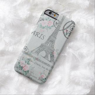 blaues Blumen Turms Shabby Chicparis Eiffel Barely There iPhone 6 Hülle