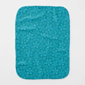 Blaues Blumenmuster Baby Spuchtücher