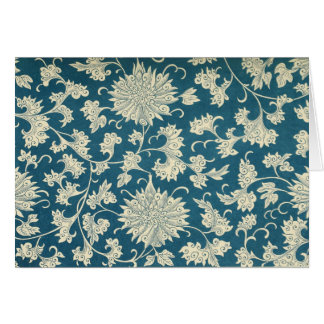 Blaues BlumenNotecard (4) Karte