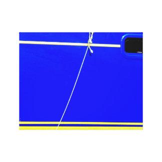 Blaues Boot Leinwanddruck