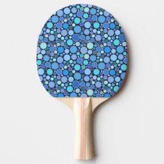 Blaues cooles Blasenmuster Tischtennis Schläger