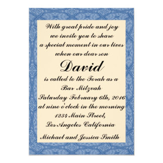Blaues Diamant-Bar Mitzvah/Geburtstags-Einladung 12,7 X 17,8 Cm Einladungskarte