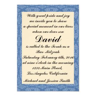 Blaues Diamant-Bar Mitzvah/Geburtstags-Einladung Karte