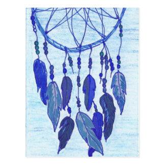 Blaues Dreamcatcher Postkarte