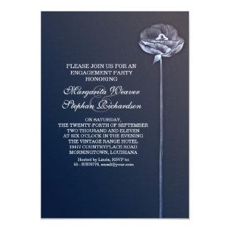 blaues elegantes schönes Verlobungs-Party lädt ein 12,7 X 17,8 Cm Einladungskarte