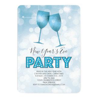 Blaues Festzelt beleuchtet Silvester-Party Karte