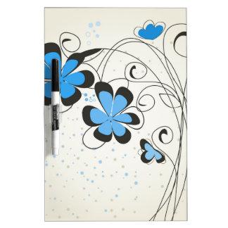 Blaues flower2 trockenlöschtafel