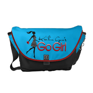 Blaues gehen Kailin Gows Mädchen-Bote-Tasche Kurier Tasche