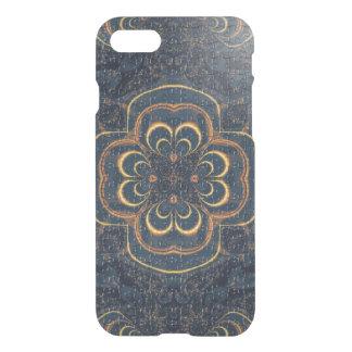 Blaues gelbes Fraktal-Puzzlespiel iPhone 8/7 Hülle