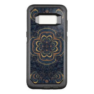 Blaues gelbes Fraktal-Puzzlespiel OtterBox Commuter Samsung Galaxy S8 Hülle