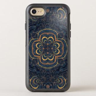 Blaues gelbes Fraktal-Puzzlespiel OtterBox Symmetry iPhone 8/7 Hülle