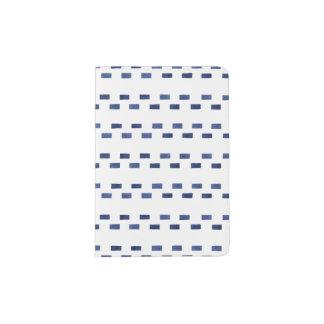 Blaues geometrisches Muster Passhülle