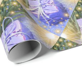 blaues Geschenk, einzigartiges, glattes Geschenkpapier