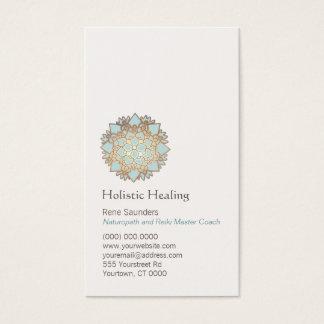 Blaues Gold Lotus holistische und natürliche Visitenkarte