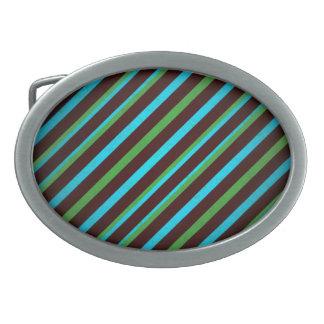 Blaues Grün-Streifen-Oval-Schnalle Ovale Gürtelschnallen