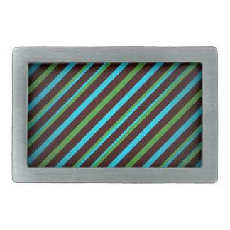 Blaues Grün Stripes Rechteck-Schnalle Rechteckige Gürtelschnalle