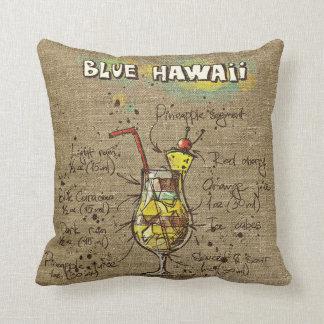 Blaues Hawaii/blaues Tahoe Rezept-Kissen Kissen