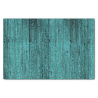 blaues Holz Seidenpapier