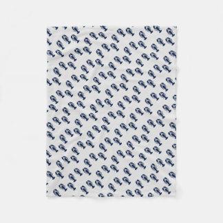 Blaues Hummer-Muster-graue Fleece-Decke Fleecedecke
