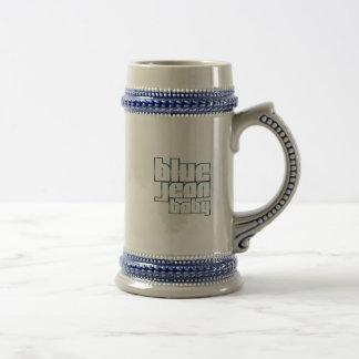 Blaues Jean-Baby Stein Bierkrug