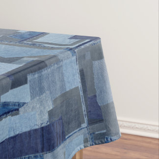 Blaues Jean Patchwork-Denim Shibori Boro Boro Tischdecke