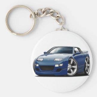 Blaues Kabriolett Nissans 300ZX DK Schlüsselanhänger