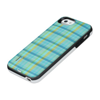 Blaues kariertes durch Shirley Taylor iPhone SE/5/5s Batterie Hülle