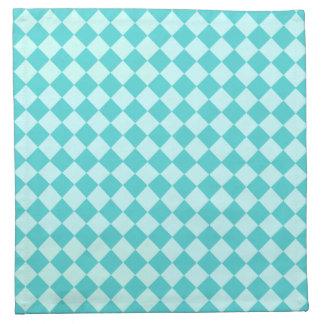 Blaues Kombinations-Diamant-Muster durch Shirley Stoffserviette