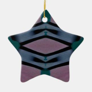 Blaues magentarotes künstlerisches modernes Muster Keramik Ornament